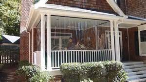 patio curtains for winter clear vinyl plastic enclosures protect porch from cold