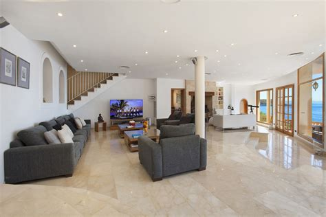Living Room With 80 Inch Tv Living And Dining Room Mallorca Rental Villa Juan Carlos