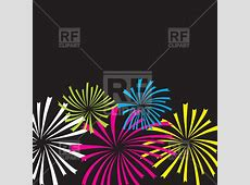 Colorful simple fireworks Vector Image – Vector Artwork of ... Free Holiday Clipart And Borders