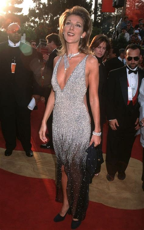 Dion To Unveil New Song At Oscars by Dion In A 1997 Dress Covered In Swarovski
