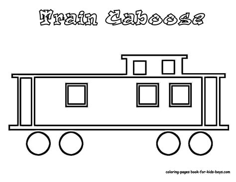 coloring page train caboose steel wheels train coloring sheet yescoloring free