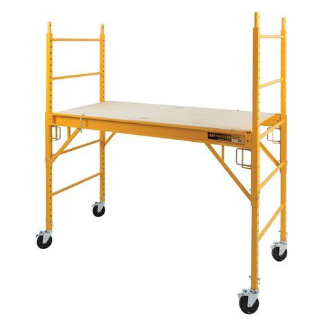 shop metaltech 6 ft x 74 in x 30 in steel rolling scaffold