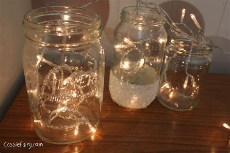 Diy Festive Fairies In Snow Covered Kilner Jars Lights In Jars