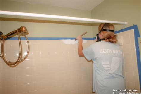 diy refinish bathtub remodelaholic how to update a tile shower tub in a weekend