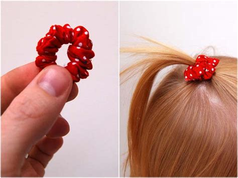 how do you put a pony tail scrunchie on short hair diy mini scrunchie baby girls fabrics and mini pony