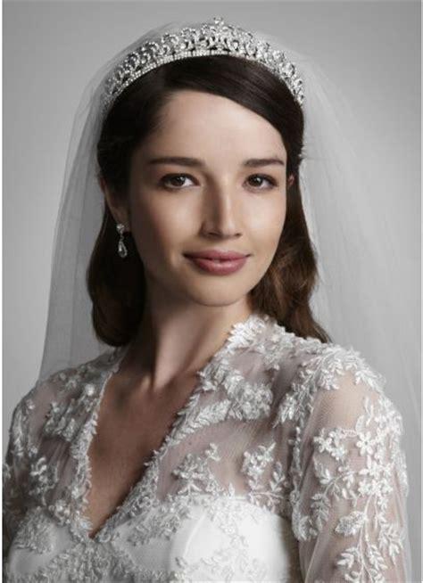 tiara  crystal scroll design davids bridal
