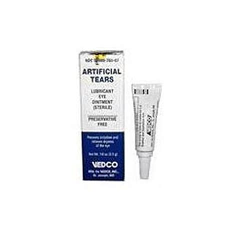 artificial tears for dogs artificial tears lubricant eye ointment 1 8 oz vetdepot