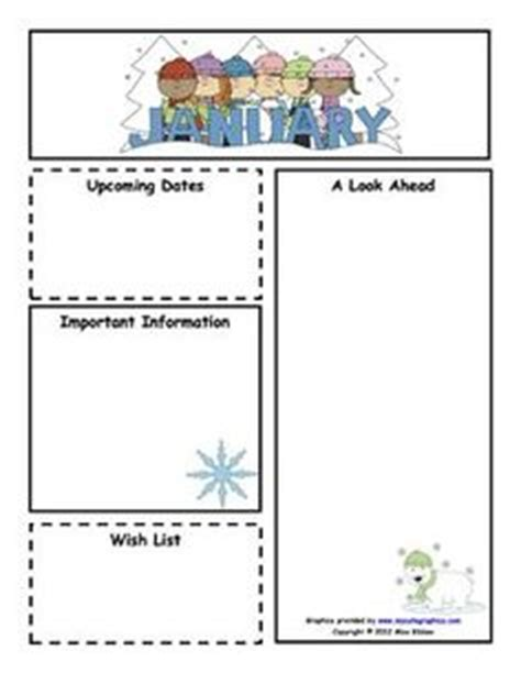 January Preschool Newsletter Template 1000 images about newsletter template on