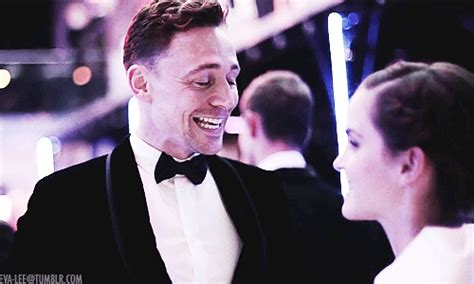 emma watson and tom hiddleston tom hiddleston gif find share on giphy
