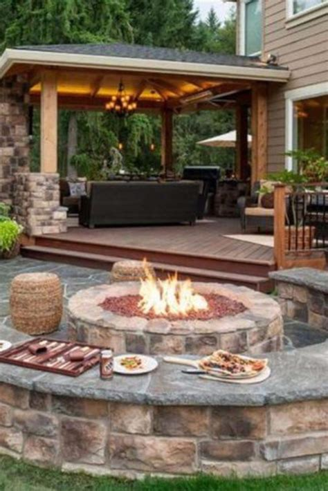 Backyard Fire Pit Ideas And Designs For Your Yard Deck Or Patio Designs With Pits