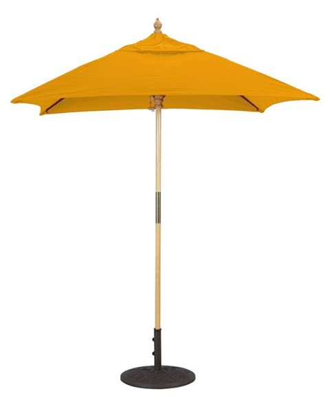 Wooden Patio Umbrella 6x6 Wood Square Patio Umbrella