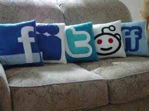 social network pillows for unique decorations interior fans