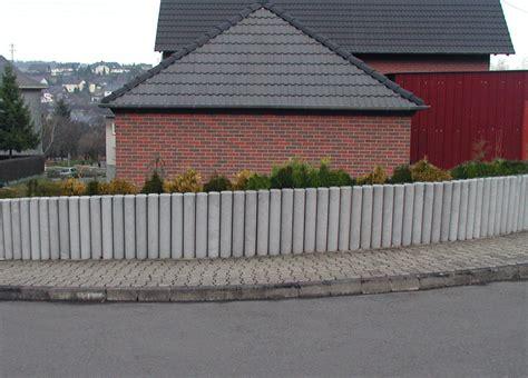 Recycling Beton Preis by Palisaden Ohne Spitze 20 X 100 Cm Grau Rundpalisaden Hanit