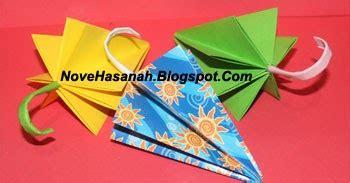 tutorial origami manusia cara membuat origami payung yang mudah