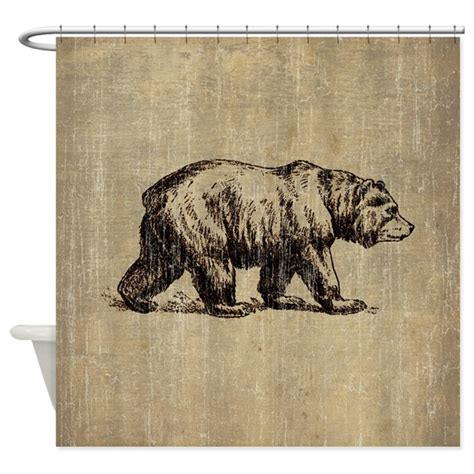 curtains with bears on them vintage bear shower curtain by esangha