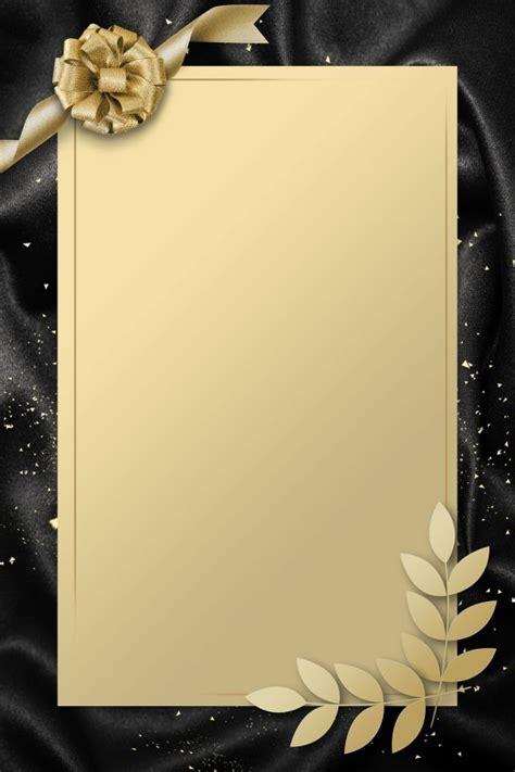 simple invitation card gold black   wedding