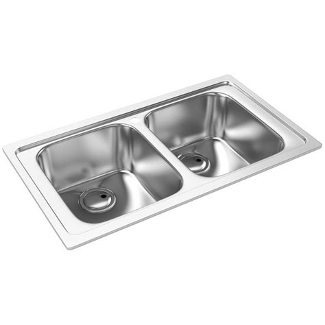 inset sinks kitchen stainless steel abode kode double bowl brushed stainless steel inset