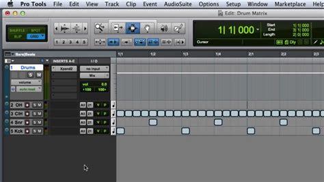 tutorial virtual drum electro pro creating a drum editing matrix in pro tools youtube