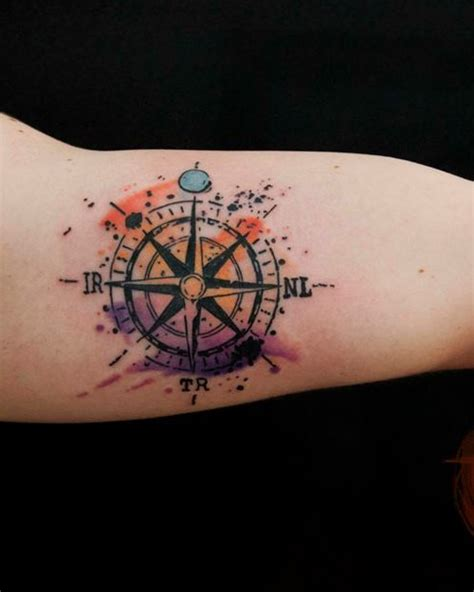 watercolor family tattoo watercolor compass tattoo windrose compass rose