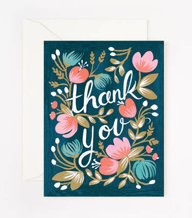 Salutations For Thank You Cards salutations thank you cards by rifle paper co