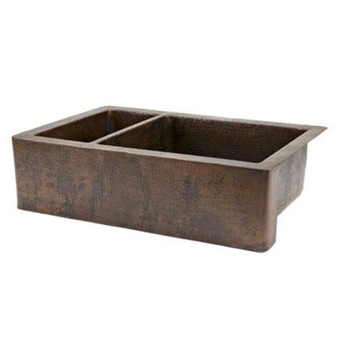 Cheap Copper Kitchen Sinks Cheap Farmhouse Sinks 33 Quot Copper Hammered 25 75 Bowl Farmhouse Kitchen Sink In