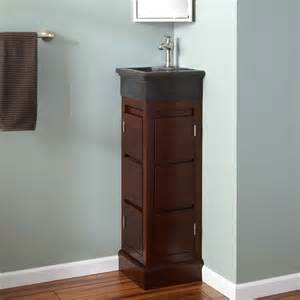 Corner Sink With Vanity by 12 Quot Corner Mahogany Vanity With Black Andesite Sink