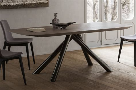 tavoli soggiorno legno tavolo moderno in legno olmo club napol arredamenti