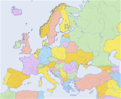 blank map of europe political europe political blank map size