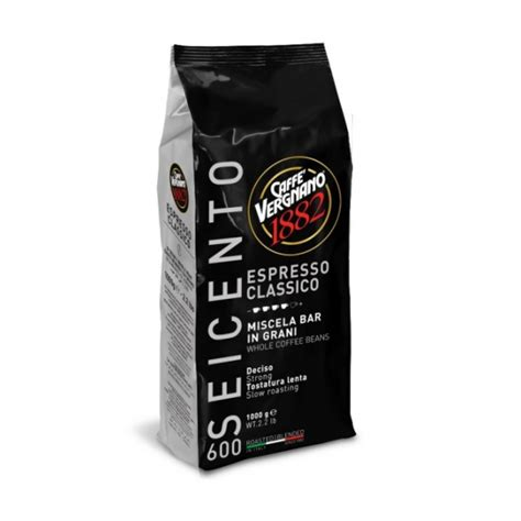 vergnano classico 600 espresso whole bean roast