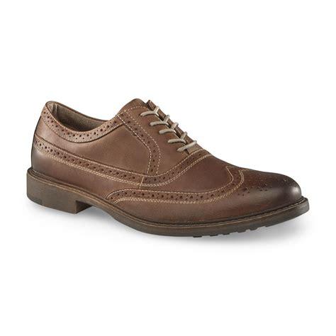 brown wingtip oxford mens shoes dockers s florent brown wingtip oxford shoe shop