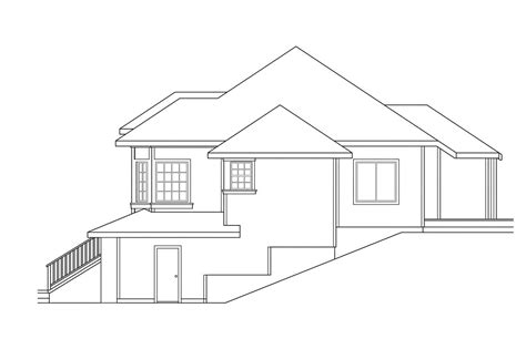 House Plans For Sloped Land by Sloping Lot House Plans