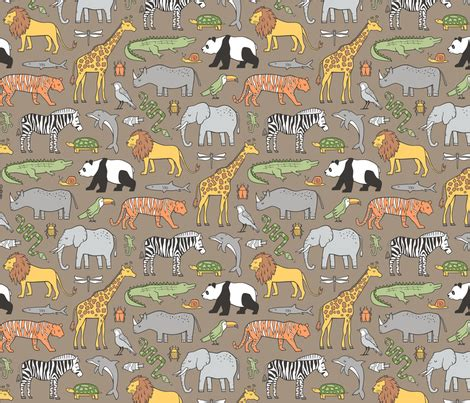 doodle zoo zoo jungle animals doodle with panda giraffe tiger