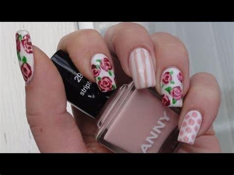 tulip flower nail art youtube spring flower nail art tutorial lindasbeautyworld youtube