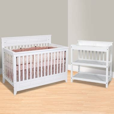White Crib And Changing Table Set Child Craft 2 Nursery Set Shoal Creek Lifetime Convertible Crib And Changing Table In