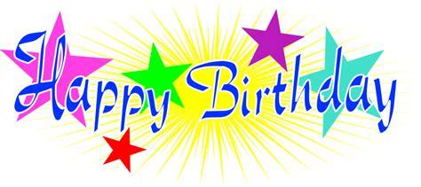 happy birthday star design star birth clipart clipground