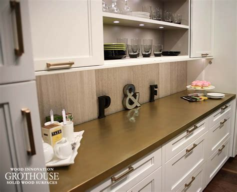 Brass Countertops by Wood Countertops Wood Countertop Butcherblock And Bar