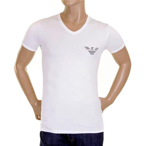 Tshirt Giorgio Armani Dealldo Merch emporio armani white v neck t shirt 110886 cc540 eam1496 at togged clothing