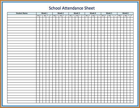 8 attendance sheet template authorizationletters org