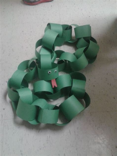 Paper Chain Crafts - snake crafts