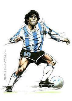 Kaos Maradona And Messi Football Artwork maradona football players legend legenda sepakbola