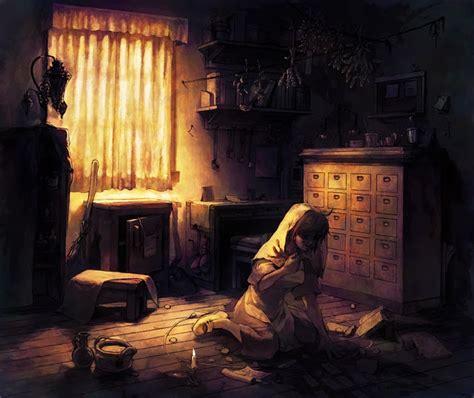 alone in bedroom sad anime girl alone in her bedroom anime manga art
