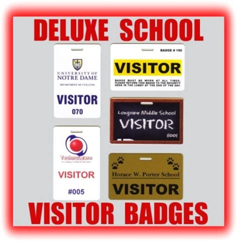 School Visitor Badges Visitor Badge Template