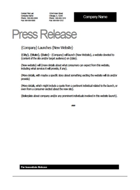 web launch press release