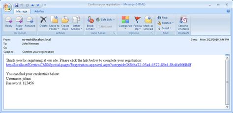 account activation email template registration approval and opt in