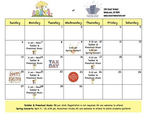 April 2014 Calendar April Calendar Upcoming Events Musictown Studio