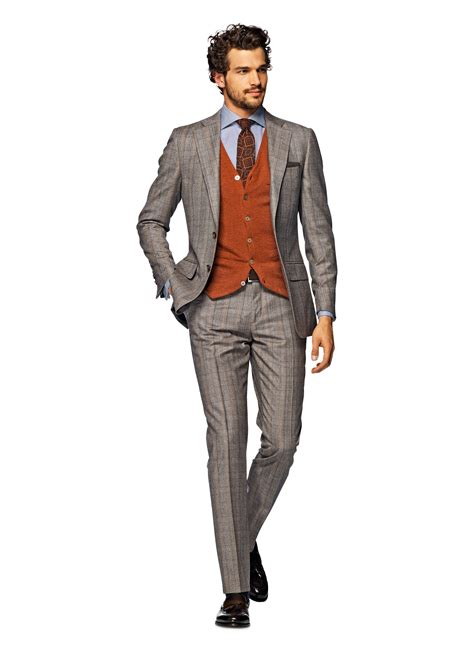 Light Brown Suit by Suit Light Brown Check Lazio P3931i Suitsupply Store