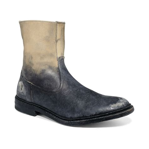 frye mens boot frye inside zip boots in gray for white