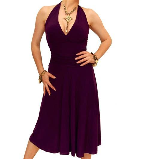 Dress Nevk purple halter neck dress