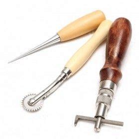 Awl Stitching Leather Tools Penusuk Penggaris Pembolong alat jahit tangan menjahit merajut jadi lebih