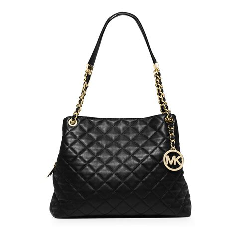 Quilted Leather Bag by Michael Kors Susannah Large Quilted Leather Shoulder Bag